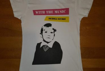 With the Music tee-shirts!